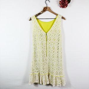 [LOFT] Sleeveless Lace Overlay Shift Dress